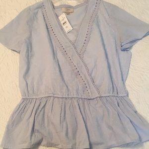 LOFT Baby blue top